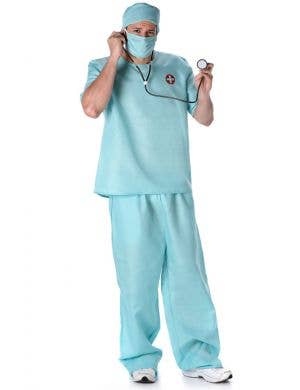 Men's Doctor Surgical Scrubs Fancy Dress Costume