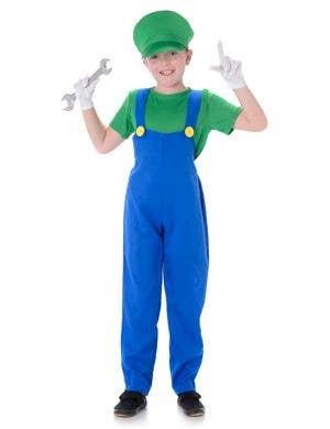 Green Plumber Boy Book Week Costume Main Image