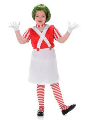 Oompa Loompa Girls Fancy Dress Costume Main Image