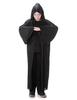 Black Hooded Robe Boys Halloween Costume Main Image