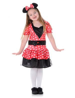 Girl's Minnie Mouse Polka Dot Costume Dress Main Image