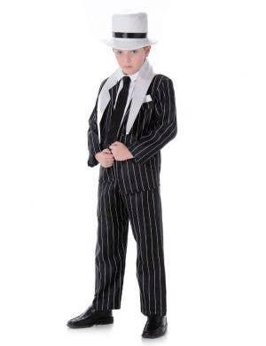 Boys 1920's Mob Boss Fancy Dress Costume Main Image