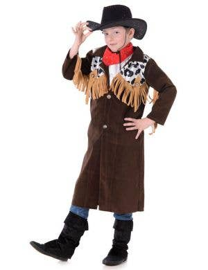 Boys Rodeo Cowboy Fancy Dress Costume Front View