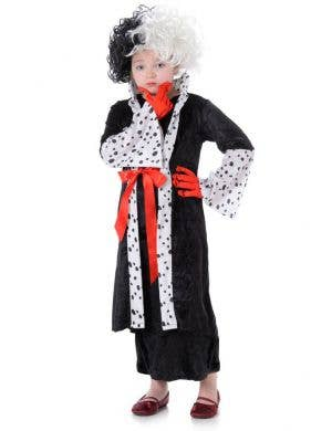 Cruella De Vil Girls Halloween Costume Main Image