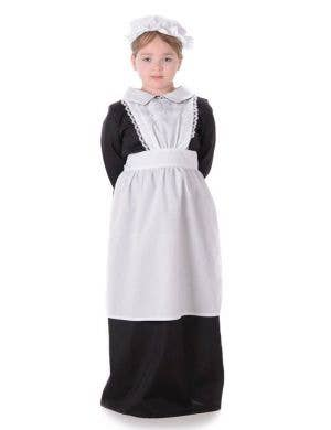 Black and White Victorian Girl Fancy Dress Costume Main Image