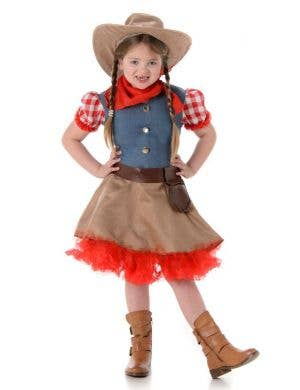 Girls Rodeo Cowboy Fancy Dress Costume Main Image