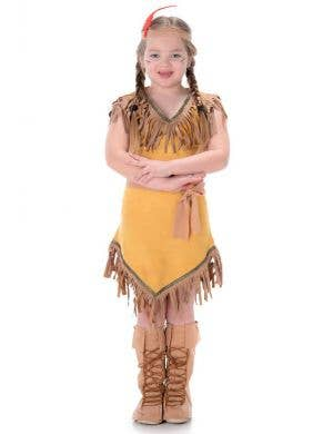 American Indian Girl's Fancy Dress Costume Main Image