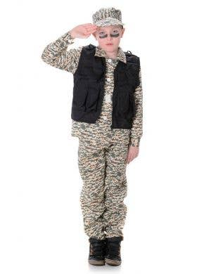 Boys Camouflage Army Book Week Costume Main Image