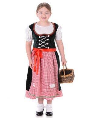 Girls Gretel Fairytale Fancy Dress Costume Main Image