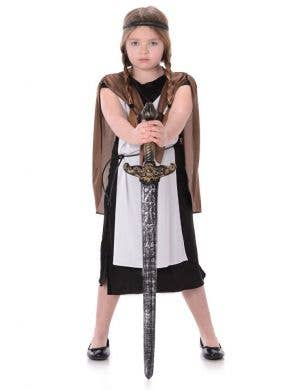 Girl's Viking Warrior Fancy Dress Costume Main Image