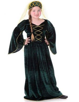 Girls Tudor Queen Fancy Dress Costume Main Image