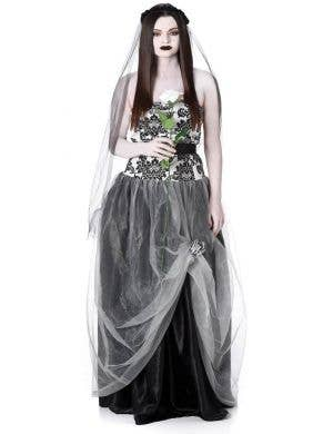 Dead Bride Women's Halloween Fancy Dress Costume
