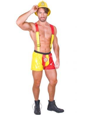 Men's Sexy Fire Fighter Fancy Dress Costume View 1