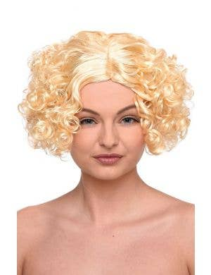 Curly Blonde Bob Women's Flapper Costume Wig