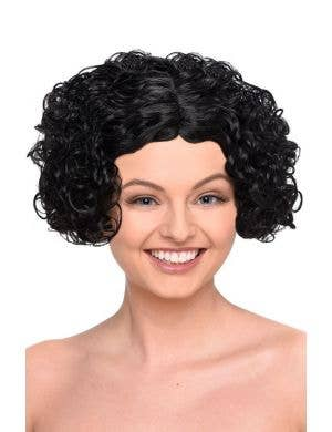 Curly Black Bob Women's Flapper Costume Wig