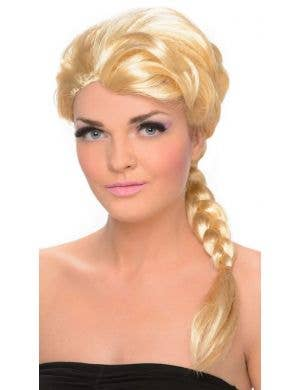 Ice Princess Women's Blonde Frozen Costume Wig