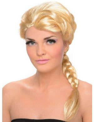Ice Princess Women's Blonde Frozen Costume Wig