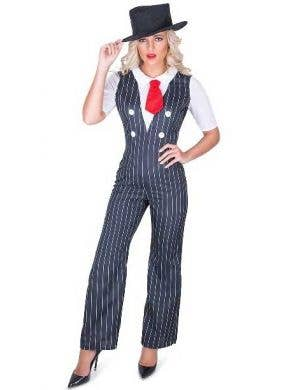 Women's Sexy 1920's Gangster Fancy Dress Costume