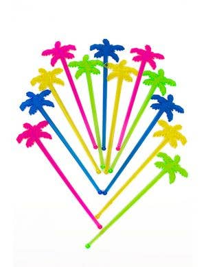 Hawaiian Themed Palm Tree Swizzle Sticks - 12 Pack