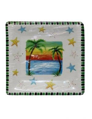 Hawaiian Beach Themed Party Plates - 10 Pack