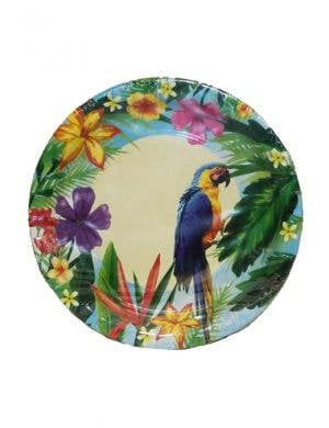 Hawaiian Parrot Party Plates - 10 Pack