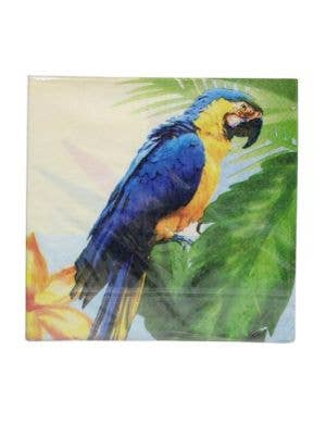 Hawaiian Parrot Party Napkins - 20 Pack