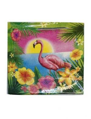 Hawaiian Themed Flamingo Party Napkins - 20 Pack