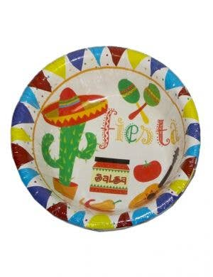 Mexican Themed White Party Bowls - 10 Pack
