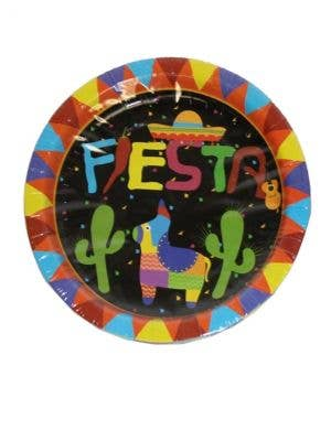 Mexican Themed Black Party Plates - 10 Pack