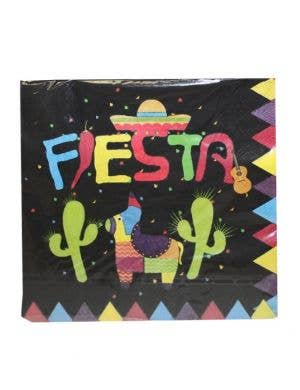 Mexican Themed Black Party Napkins - 20 Pack
