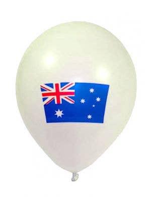 White Aussie Flag Printed Balloon Decoration
