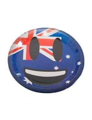 Smile Face Emoticon Emoji Aussie Flag Australia Day Large Paper Plates