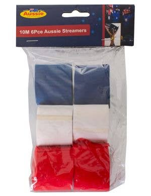 Red, White Blue Australian Themed Novelty Party Decoration Streamers