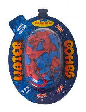 Red and Blue Australia Day Fun Water Balloons