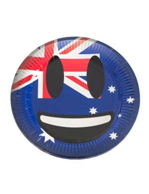Happy Smiley Emoticon Australia Theme Paper Party Plates