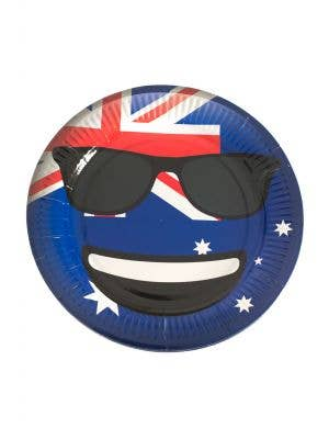 Cool Dude Sunglasses Emoticon Australia Themed Party Plates