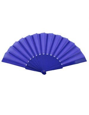 Geisha Hand Held Fan - Blue