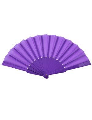 Geisha Hand Held Fan - Purple