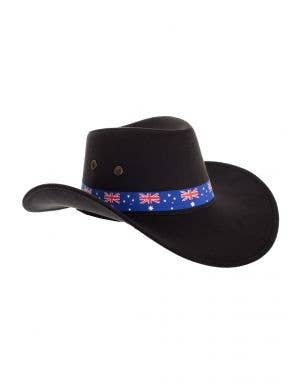 Black Akubra Style Australia Day Cowboy Hat Costume Accessory