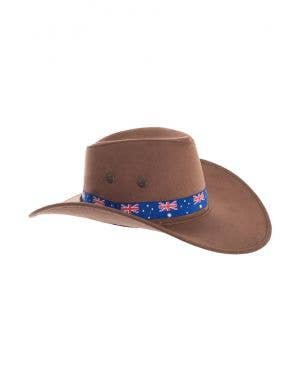 Brown Akubra Style Australia Day Cowboy Hat Costume Accessory