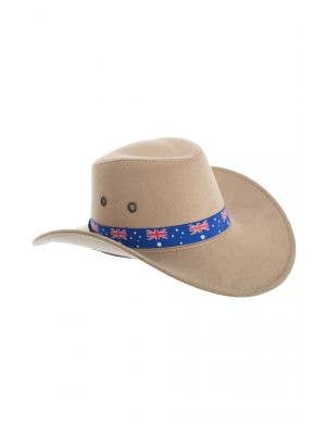 Tan Brown Akubra Style Australia Day Cowboy Hat Costume Accessory