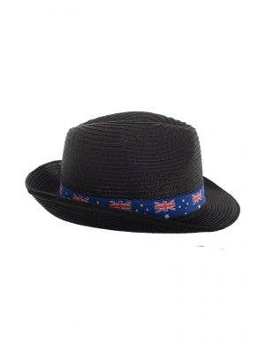 Black Coloured Trilby Australia Flag Sun Hat