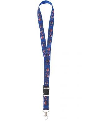Australia Day Novelty Blue Oi Oi Oi Aussie Flag Lanyard View 1