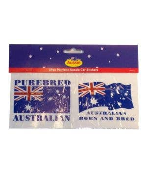 Aussie Flag Patriotic Car Stickers Two Pack Front View