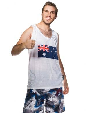 Aussie Flag Men's Australia Day Tank Top