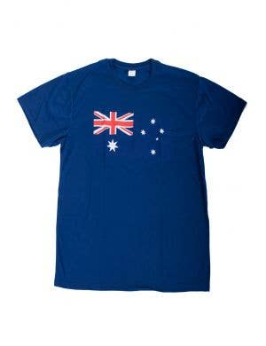 Blue Men's Adult's Australia Day Australian Flag T-Shirt