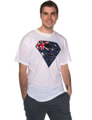 Australia Day Austraian Flag Superhero T-Shirt View 1
