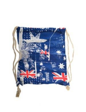 Australian Flags Canvas Backpack Beach Bag