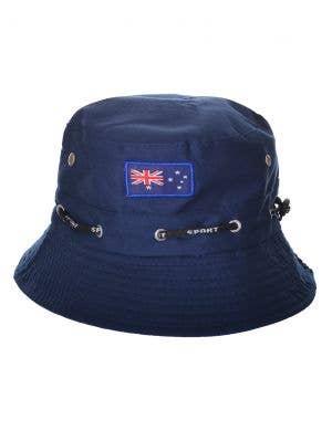 Navy Adults Australia Day Bucket Hat With Aussie Flag