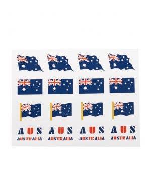Small Temporary Aussie Flag Tattoos